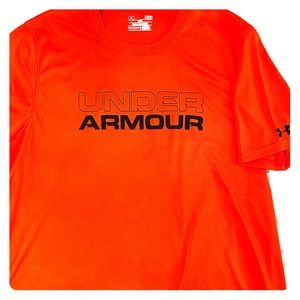 Under Armour dry wick shirt in burnt orange